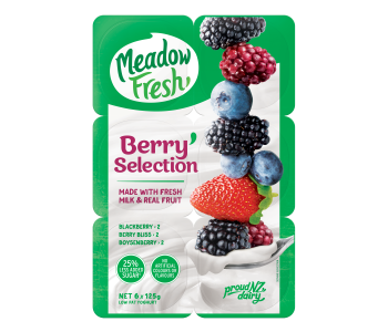Meadow Fresh Yoghurt Berry Selection 6pk